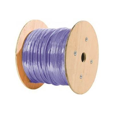 CABLE RIGIDE 4 PAIRES CAT6A BLINDE S-FTP LSZH TOURET DE 1000 METRES