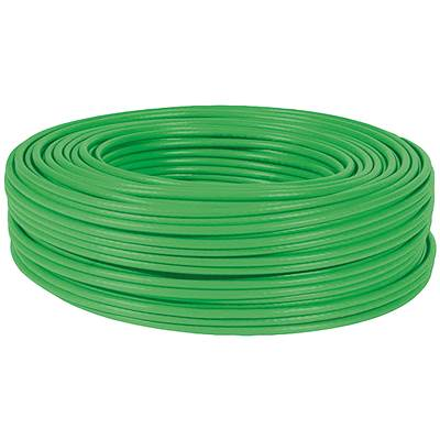 CABLE PATCH CAT 6 FTP LSZH VERT COURONNE DE 100 METRES