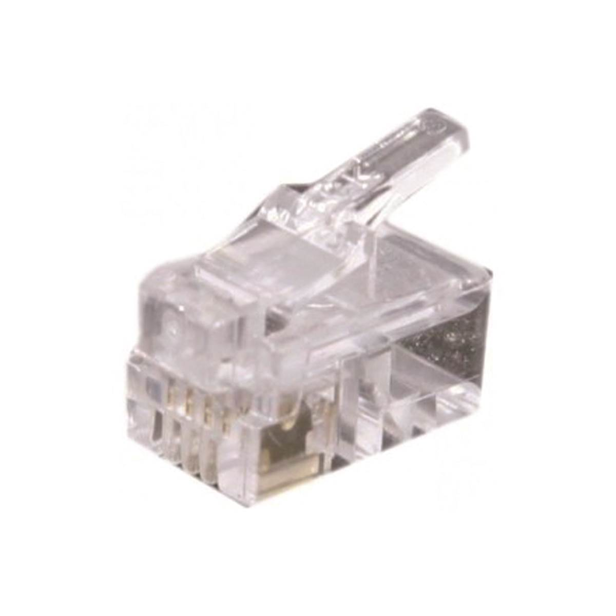 Sourcingmap RJ9 4P4C Modulaire Prise T/él/éphone Jack Sertissage Connecteur 30pcs